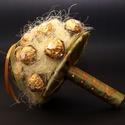 Ferrero Rocher csokor, Dekoráció, Virágkötés, A csokor 16 db Ferrero Rocher golyóból áll., Meska