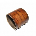 Brown Takwakin Textures - Patentos széles bőr karkötő, Ékszer, óra, Karkötő, Bőrművesség, Ékszerkészítés, Barna marhabőrből, saját mintával díszített karkötő.  A minta tartós.  A karkötő szélessége: 5,5 cm..., Meska