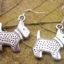 Kutyám!, Ékszer, óra, Fülbevaló, Ékszerkészítés, Kutyám!  Szeretjük őket annyira, hogy bátran viseljük is kicsinyített formában, ugye? Ezüst színű, ..., Meska