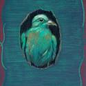 Szívem madara, Képzőművészet, Dekoráció, Grafika, Illusztráció, Fotó, grafika, rajz, illusztráció, Festészet, pasztell rajz 21x30 cm, Meska