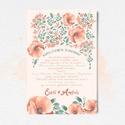 Esküvői meghívó pipacsokkal - nyomtatható file, Esküvő, Mindenmás, Dekoráció, Meghívó, ültetőkártya, köszönőajándék, Fotó, grafika, rajz, illusztráció, A tökéletes parti a meghívónál kezdődik! Hívd meg esküvői vendégeidet stílusosan! Ezzel a különlege..., Meska