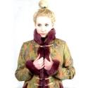 Oroszos kiskabát, Ruha, divat, cipő, Női ruha, Kabát, Varrás, Lurex beszövésű brokátszerű mintás anyagból készült ez az oroszos kiskabát,mályva műszőrmével van k..., Meska