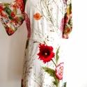 Nyulas virágoskert ruha, Ruha, divat, cipő, Női ruha, Akció! 16000Ft helyett 12000Ft! Mintás pamut-viszkóz-lycra alapanyagú raglán ujjú ruha,piros k..., Meska