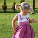 Kakasos hímzéssel díszített alkalmi ruha - kislány esküvőre is, Ruha, divat, cipő, Gyerekruha, Gyerek (4-10 év), Hímzés, Varrás, Gyönyörű alkalmi ruha, de bármilyen más ünnepi alkalomra is kiváló viselet a hercegnőkbe szerelmes k..., Meska