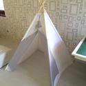 Dots Teepee, Baba-mama-gyerek, Játék, Gyerekszoba, Gyerekbútor, Varrás, Rendelésre készítettem ezt a fehér béléses sátrat, Riley Blake Dots textiljével díszítve. Lecek 195..., Meska