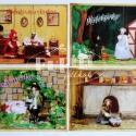 Grimm mesék képeslapokon, Képeslap, album, füzet, Képzőművészet , Képeslap, levélpapír, Illusztráció, Baba-és bábkészítés, Papírművészet, A képeken egy miniatűr bábszínházi világ eleveníti meg a legkedveltebb Grimm meséket.  Választhatod..., Meska
