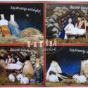 Betlehemes képeslapok, Képzőművészet , Képeslap, album, füzet, Karácsonyi, adventi apróságok, Ajándékkísérő, képeslap, Baba-és bábkészítés, Népi játék és hangszerkészítés, A csomag négy darab képeslapot tartalmaz, melyek bábtáncoltató betlehemes jeleneteket ábrázolnak. A..., Meska