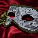 Velencei szem  maszk / álarc / hordható, Dekoráció, Képzőművészet, Ünnepi dekoráció, Vegyes technika, Papírmaséból készült, hordható egyedi velencei stílusú szem maszk.  A velencei stílusú maszkjaim saj..., Meska