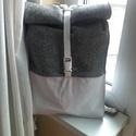 Fanni Vegán hátizsák, Táska, Hátizsák, Varrás, A képen látható hátizsák Fanni lányom tervei alapján készült. Műbőr és szövet felhasználásával.  Mé..., Meska