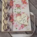 Elegáns vendégkönyv esküvőre, egyedi felirattal vagy akár fotóval is.   :-), Esküvő, Naptár, képeslap, album, Jegyzetfüzet, napló, Decoupage, szalvétatechnika, Festett tárgyak, Esküvői vendégkönyv, melybe beleírhatják vendégeitek, barátaitok a Nektek szánt gondolataikat. A na..., Meska