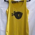 Fugu halas  felső, Ruha, divat, cipő, Női ruha, Felsőrész, póló, , Meska