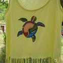 Hawaii teknős mintás  felső, Ruha, divat, cipő, Női ruha, Felsőrész, póló, , Meska