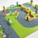 Városépítő játék, Játék, Baba-mama-gyerek, Fajáték, Készségfejlesztő játék, Festett tárgyak, Építs egy várost magadnak! Egy igazán kreatív és hasznos játék, amely csak természetes alapanyagokb..., Meska