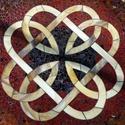 Kelta mintás mozaikozott asztallap, Bútor, Otthon, lakberendezés, Asztal, Mozaik, Üvegművészet, Megrendelésre készítettem ezt a kelta csomókkal díszített  mozaikozott asztallapot.   A megrendelőt..., Meska