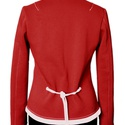 Női zakó - piros/fehér, Ruha, divat, cipő, Női ruha, Kosztüm, Kabát, Varrás, Jellemzően  sportos-elegáns, kényelmes viselésű ruhadarab. Az év összes évszakában viselhető. Termé..., Meska