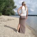 Nyári szoknya - summer brown (R016), Ruha, divat, cipő, Női ruha, Szoknya, Varrás, Nyári szoknya három szín kombinációjával, mely vonzza a tekintetet. Vékony elasztikus anyagból kész..., Meska