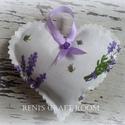 Levendula szív <3, Dekoráció, Esküvő, Otthon, lakberendezés, Meghívó, ültetőkártya, köszönőajándék, , Meska