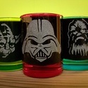 Star Wars üveg pálinkás pohár készlet, Férfiaknak, Konyhafelszerelés, Sör, bor, pálinka, Bögre, csésze, Üvegművészet, 3db-os röviditalos pohár készlet. A minta kézi gravírozással készült.  Űrtartalom: 5 cl, Meska