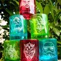 Star Wars üveg pálinkás pohár készlet, Férfiaknak, Sör, bor, pálinka, Vőlegényes, Legénylakás, Üvegművészet, Röviditalos pohár készlet. Az ár 3 db pohárra vonatkozik (egy piros, egy kék, egy zöld), a minta vá..., Meska