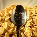 Cereal Killer kanál, Férfiaknak, Konyhafőnök kellékei, Legénylakás, Sör, bor, pálinka, Fémmegmunkálás, Kézi gravírozott evőkanál. Anyaga: rozsdamentes acél  Tedd egyedivé! A kanál nyelére név, vagy évsz..., Meska