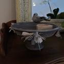 Madárka etető-itató, Dekoráció, Otthon, lakberendezés, Kaspó, virágtartó, váza, korsó, cserép, Kerti dísz, Virágkötés, Ezzel a kis cserépitatóval odacsalogathatod a madarakat a teraszodra:), Meska
