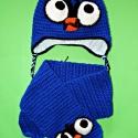 Angry Bird horgolt sapi + sál , Baba-mama-gyerek, Ruha, divat, cipő, Kendő, sál, sapka, kesztyű, Sapka, Horgolás, Nem hiányozhat a mi kinálatunkból sem  ;)  Készülhet füllel vagy a nélkül is , bármilyen méretben G..., Meska