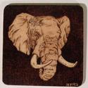 Poháralátét állatok képeivel 1, Konyhafelszerelés, Edényalátét, Famegmunkálás, 10 cm x 10 cm méretű poháralátét égetett képpel.  A képeken szereplő darabok a minták, de szívesen ..., Meska