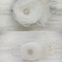 Hajpánt virággal, Esküvő, Hajdísz, ruhadísz, Ékszerkészítés, Négy az egyben virágos hajdísz. Hordhatod bohém fejpántként vagy hajpántként. A virág levehető a pá..., Meska