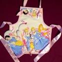 Disney hercegnős  kötény + kesztyű gyerekeknek - konyhában is csinosan., Konyhafelszerelés, Baba-mama-gyerek, Húsvéti apróságok, Kötény, Varrás, Disney hercegnő  mintás kötény + kesztyűk kislányok részére.   A kötény bélelt, színben harmonizáló..., Meska
