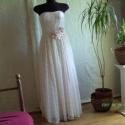 Csipkeálom, Ruha, divat, cipő, Esküvői ruha, Női ruha, Estélyi ruha, Varrás, Csipkeálom. Finom halvány rózsaszínű alkalmi ruha. Derekán selyemvirággal díszítve .Mérete: 36-38 , , Meska