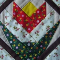 Tulipnos  patchwork tert 30x30cm, Otthon, lakberendezs, Lakstextil, , Meska