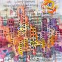 City 13 - akvarell, filc, Képzőművészet , Festmény, Akvarell, Festmény vegyes technika, Festészet,  Akvarellfesték és filc használatával.  Mérete: A4         29,7x21 cm   ___________________________..., Meska