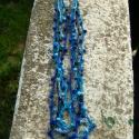 Kék árnyalatok, Ékszer, óra, Nyaklánc, Horgolás, Igazi nyári viselet ez a nyaklánc, nagyon könnyű, szinte észre sem veszed, és biztosan nem izzadsz m..., Meska