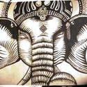 Mesés kelet, Képzőművészet, Grafika, Rajz, Festészet, Művész rajzpapírra rajzolt szimbólum. India jelképe,művészi szimbólumokkal,minden  mesés varázst ma..., Meska