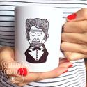 Lincoln bögre, Konyhafelszerelés, Bögre, csésze, Fotó, grafika, rajz, illusztráció, Kerámia, Lincoln bögre.Saját grafikáimmal ellátott kerámia bögre 3 dl-es., Meska