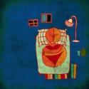 Szerelmeskedés, Dekoráció, Képzőművészet , Kép, Illusztráció, Festészet, Fotó, grafika, rajz, illusztráció, 25x25 cm-es print fehér passpartout-val 250 g/m2-es matt műnyomópapíron. , Meska