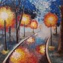 Esti út (reprodukció- művészi nyomat), Képzőművészet, Illusztráció, Festmény, Grafika, Fotó, grafika, rajz, illusztráció, Az eredeti terméket vászonra festettem olaj festékkel, ez csupán egy REPRODUKCIÓ!   Kinyomtatott, m..., Meska