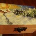 Mini fa doboz téli olajképpel a tetején többféle! Ajándék,dekoráció,tároló, Képzőművészet, Festmény, Vegyes technika, Festett tárgyak, Festészet, Az alap egy pici doboz melynek méretei: 9 cm széles,5.5 cm hosszú és 4,5 cm magas. A tetejére feste..., Meska