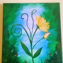 Tavaszköszöntő, Dekoráció, Képzőművészet, Kép, Festmény, Festészet, Kézzel festett, feszített vászonra készült ékrámán. Akrillal és szeretettel :). Mérete 25x30 cm, ta..., Meska