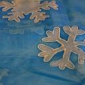 """Jégvarázs, Ruha, divat, cipő, Kendő, sál, sapka, kesztyű, Kendő, Sál, Selyemfestés, """"Legyen hó, legyen hó még sose volt hasonló. Legyen hó, legyen hó, olyan lelket mozdító."""" Jégvarázs..., Meska"""