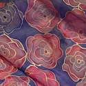"""Rózsakollekció, Ruha, divat, cipő, Kendő, sál, sapka, kesztyű, Kendő, Sál, Selyemfestés, """"Az idő, amit a rózsádra vesztegettél: az teszi olyan fontossá a rózsádat."""" Antoine de Saint-Exupér..., Meska"""