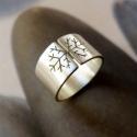 Hópehely ezüst gyűrű , Ékszer, óra, Gyűrű, Ékszerkészítés, Gyűrű hópehely mintával, Sterling ezüstből. Fűrészelt, hajlított, szatén fényűre csiszolt.  Mérete:..., Meska