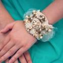 Vintage Esküvő - Menyasszony karkötő, Glamour Wedding, Esküvő, Esküvői ékszer, Ékszerkészítés, Varrás, Vintage Esküvő - Menyasszony karkötő, Glamour Wedding  Ajánlom vintage stílusú esküvőre a menyasszo..., Meska