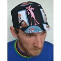 Serin  pink panther biciklis sapka 1., Férfiaknak, Ruha, divat, cipő, Kendő, sál, sapka, kesztyű, Sapka, Varrás, Pink panther mintás biciklis sapka. Műanyag simli nélkül! A BICIKLIS SAPKÁK megvédenek a naptól szé..., Meska