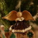Lótusz angyalka 3., Dekoráció, Karácsonyi, adventi apróságok, Ünnepi dekoráció, Karácsonyfadísz, , Meska