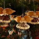 Lótusz angyalka 4., Dekoráció, Karácsonyi, adventi apróságok, Ünnepi dekoráció, Karácsonyfadísz, , Meska