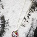 Hello Kitty nyaklánc, Ékszer, óra, Ékszerszett, Medál, Nyaklánc, Ékszerkészítés, Mindenmás, Üveglencsés nyaklánc. Kézzel készített.  Nyaklánc teljes hossza: 600mm  Medál mérete: 25mm  Medál s..., Meska