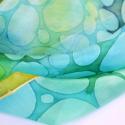 animalONme selyemkendő kaméleon mintával, Ruha, divat, cipő, Képzőművészet , Kendő, sál, sapka, kesztyű, Kendő, Selyemfestés, AnimalONme kollekcióm különleges darabja ez a kaméleon mintás selyemkendő. A kék és zöld árnyalatai..., Meska