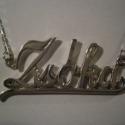 Zsóka névkolié(Carrie lánc,neves nyaklánc), Ékszer, óra, Nyaklánc,  Ezüstből(925-ös)készült a nyaklánc. A név kezdőbetűje 15mm magas.Az anyagvastagsága 1,5mm..., Meska