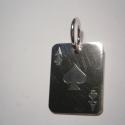 Ász lap  ezüstből, Ékszer, óra, Férfiaknak, Medál, Ékszerkészítés, Ötvös, Póker kedvelőknek készítettem a lapmedált 925-ös ezüstből.17x22 mm-es., Meska